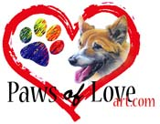 Paws Of Love Art by Joan Swanson